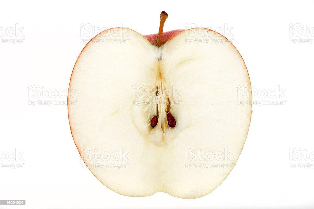 Apple slice isolated on white stock photo