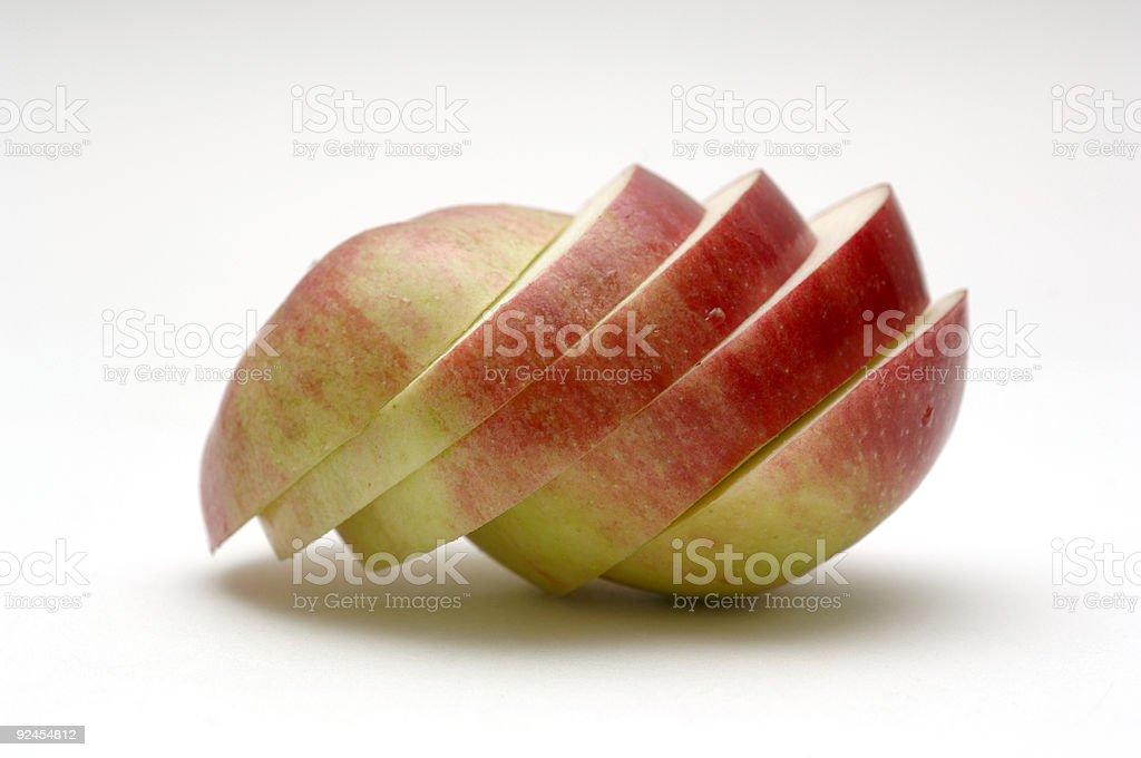Apple Sliced English red desert against white royalty-free stock photo