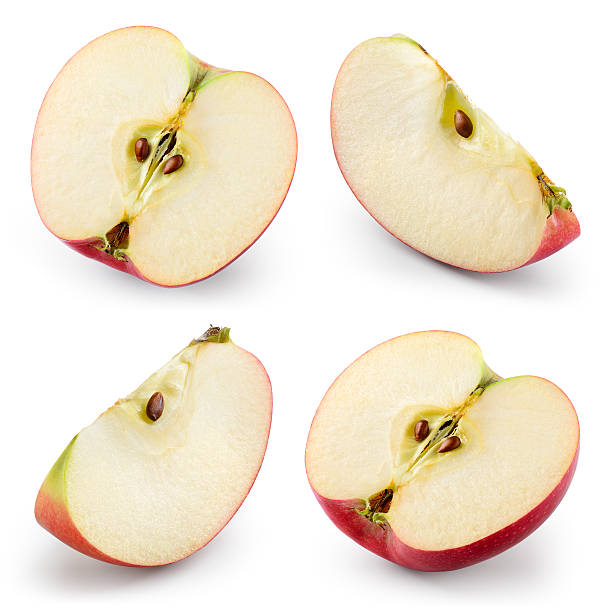 Apple slices isolated on white. Collection. With clipping path - Photo