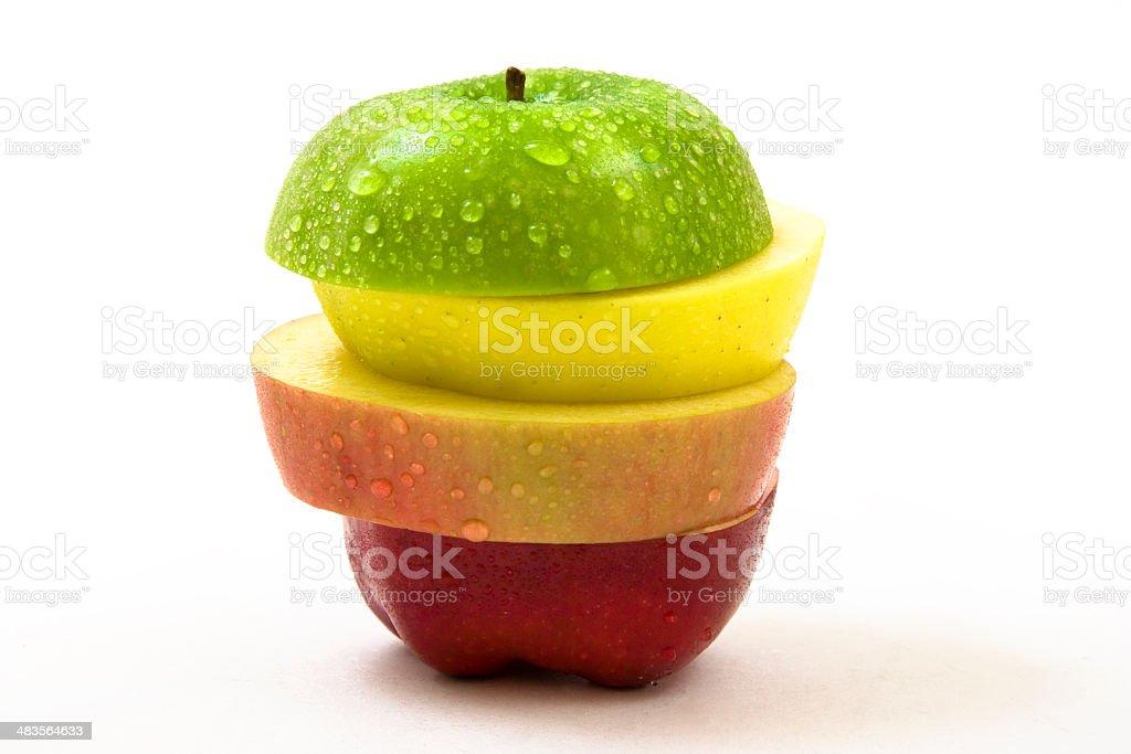Apple slices royalty-free stock photo