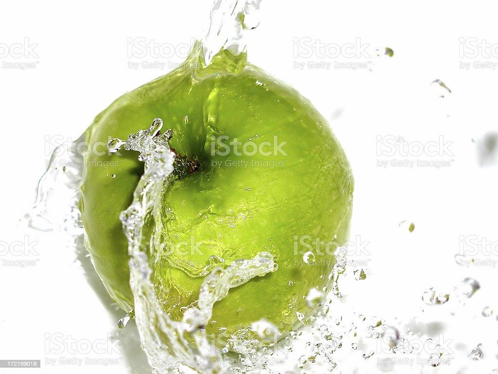apple splash 02 royalty-free stock photo