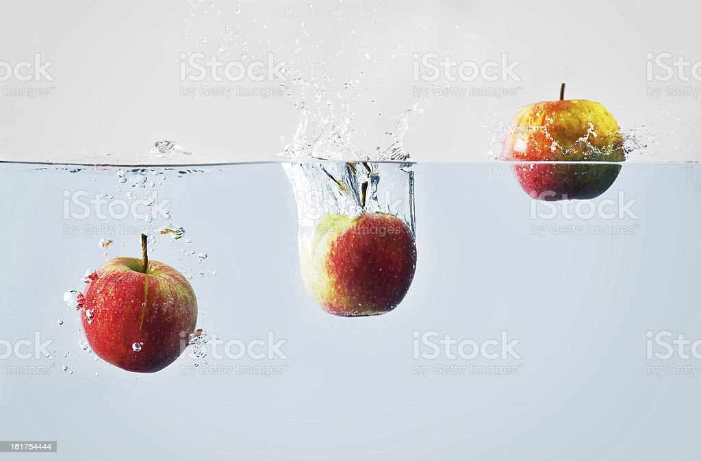 Apple splash royalty-free stock photo