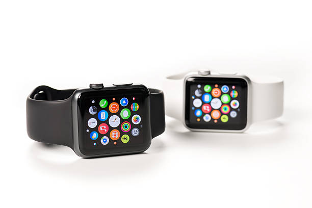 Apple Stainless Steel Watches 38mm and 42mm stock photo