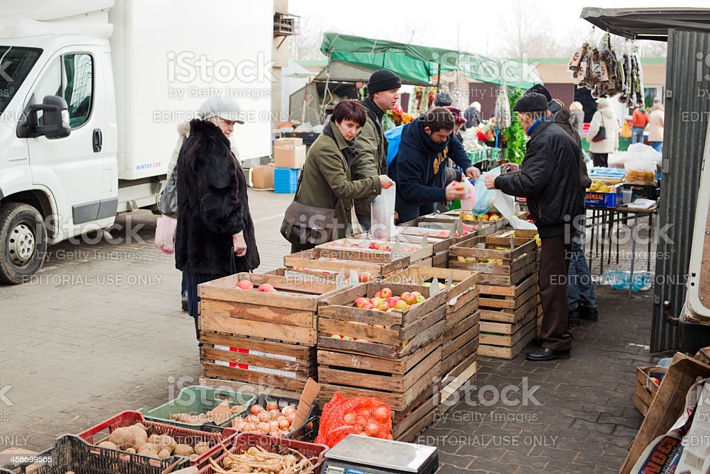 Apple stall royalty-free stock photo