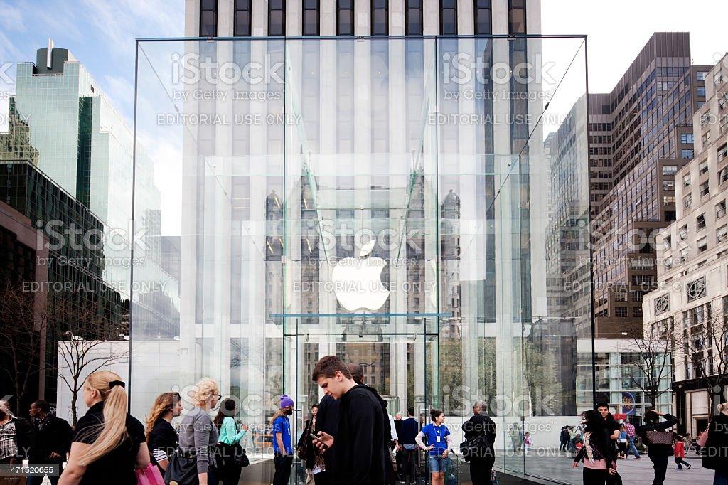 Apple Store, 5th Avenue, New York stock photo