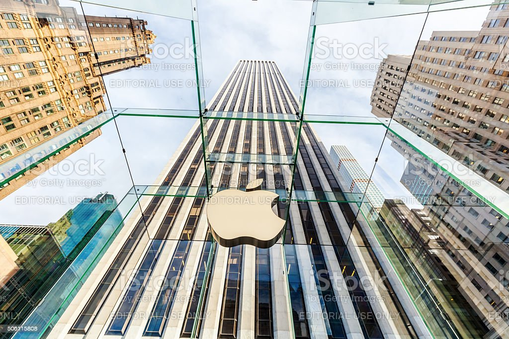 Apple store at 5th Ave in Manhattan, NYC stock photo