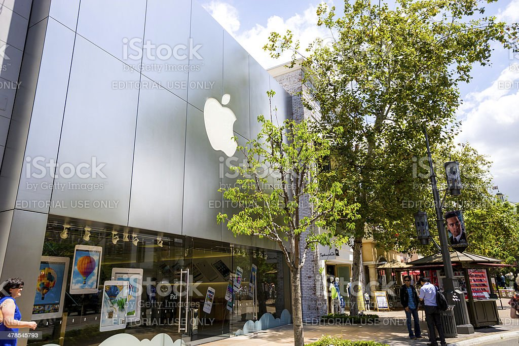 Apple Store at The Grove, Los Angeles stock photo