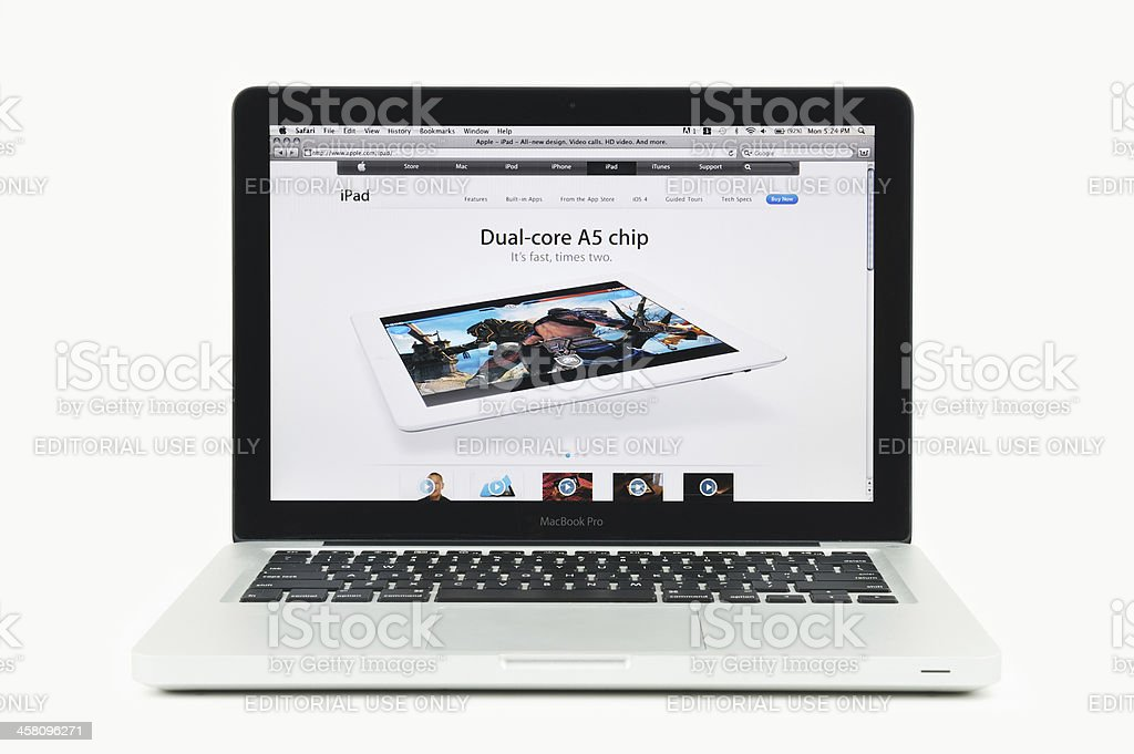 Apple Store Featuring Dual Core iPad on a MacBook Pro royalty-free stock photo