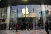 istock Apple Store front entrance.This Apple store is located on Wangfujing street, Beijing, China 692944966