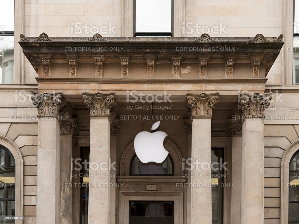 Apple Store, Glasgow, Scotland. royalty-free stock photo