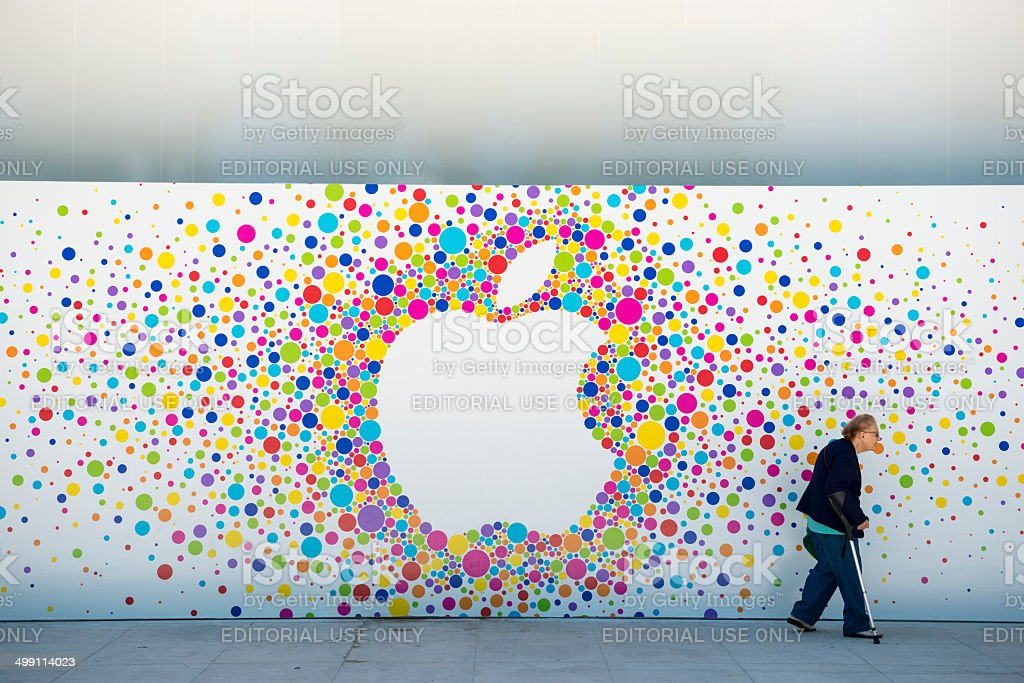 Apple Store in Aix-en-Provence stock photo