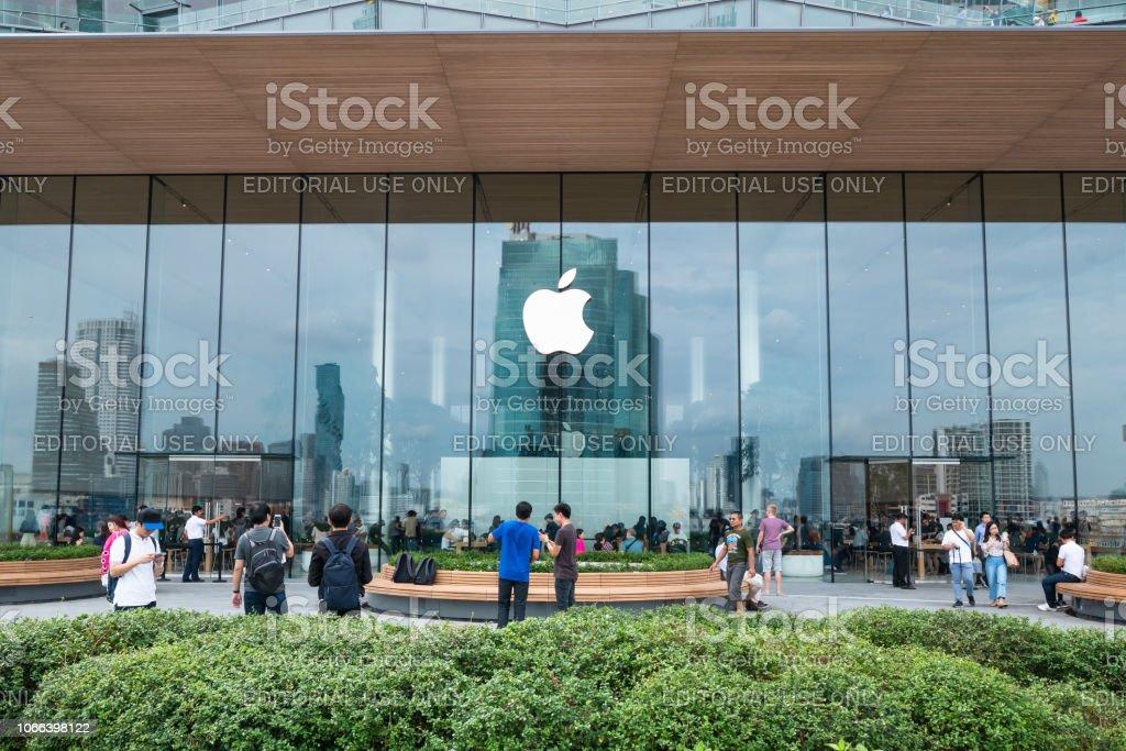Apple Store in Bangkok stock photo