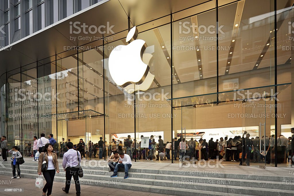 Apple Store na China - foto de acervo
