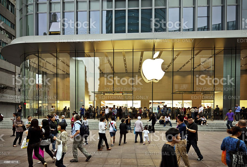 Apple Store in China stock photo