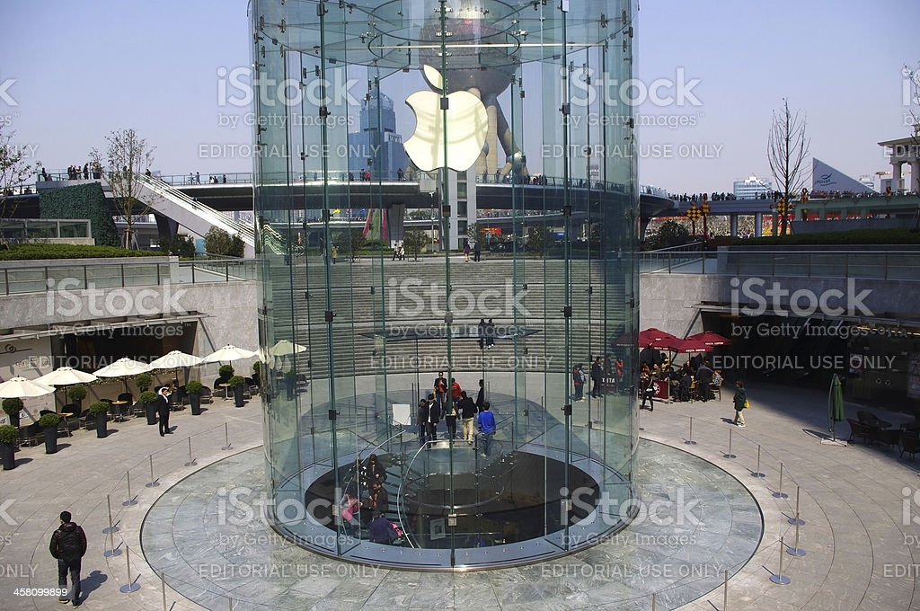 Apple Store in China shanghai royalty-free stock photo