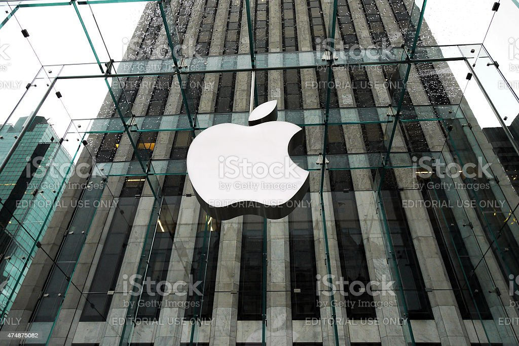 Apple Store in Fifth Avenue, New York stock photo