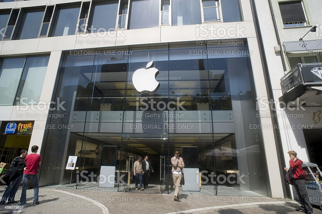 Apple Store in Frankfurt am Main royalty-free stock photo