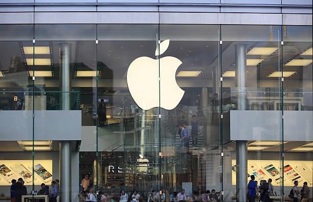 apple store a hong kong - apple computers foto e immagini stock