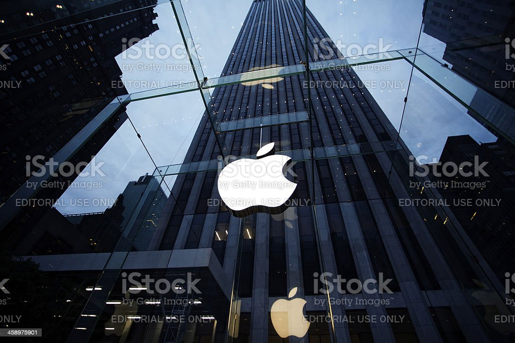 Apple Store in New York City stock photo