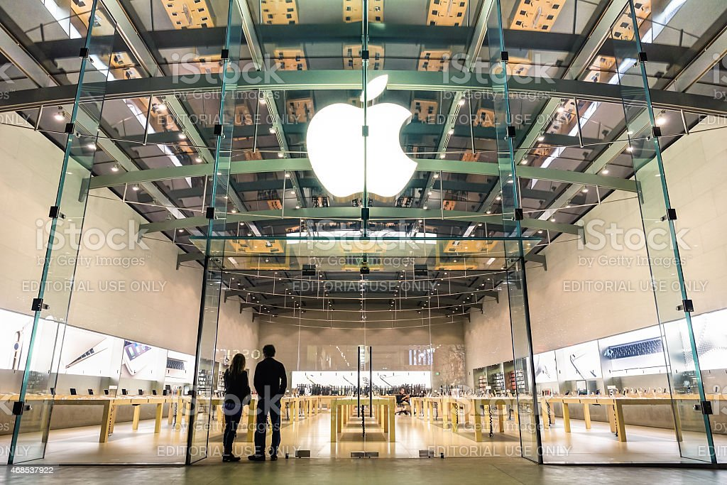Apple Store in Santa Monica - California - United States stock photo