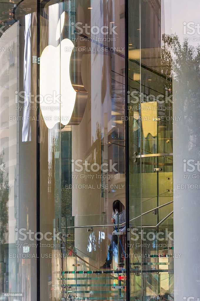 Apple store in Shanghai, China stock photo