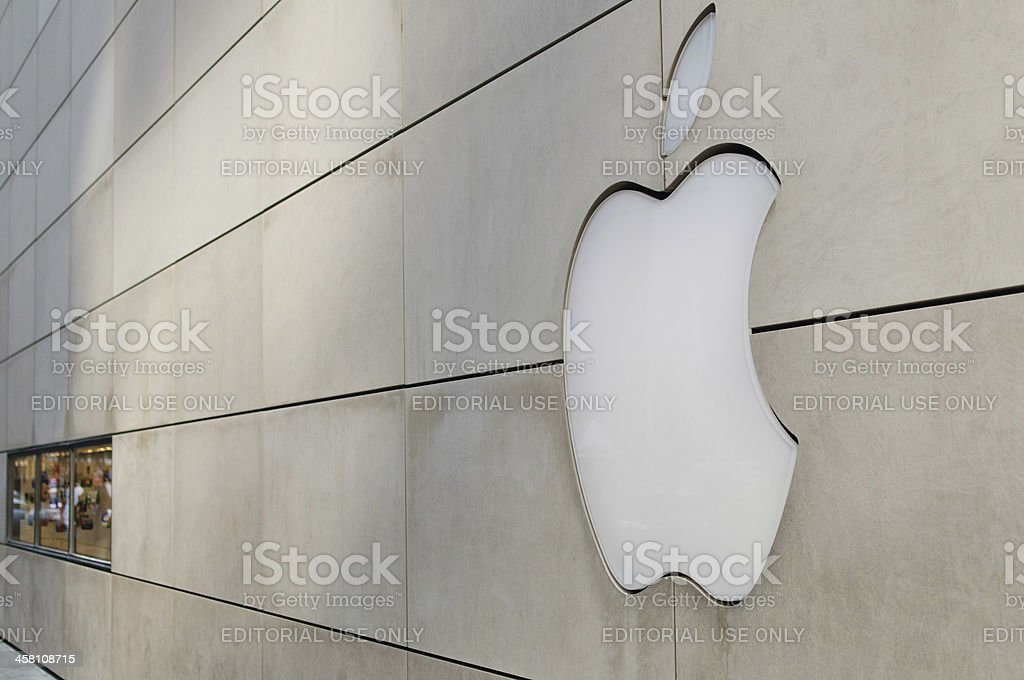 Apple Store Logo royalty-free stock photo