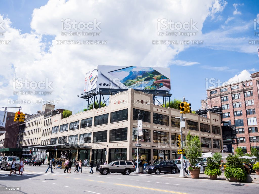 Apple Store Meatpacking District Manhattan royalty-free stock photo