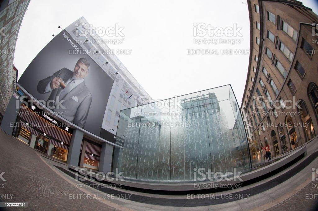Apple Store Milano stock photo