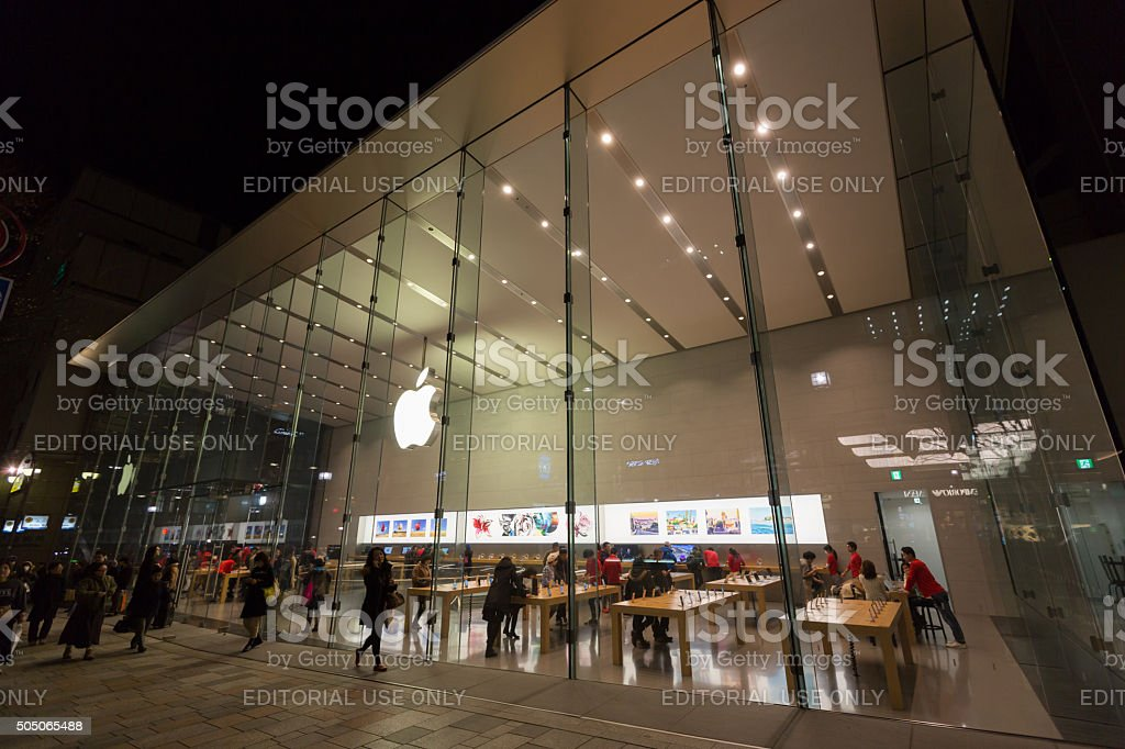 Apple Store Omotesando in Tokyo, Japan stock photo