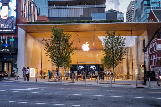 Apple Store on Broadway in Nashville stock photo