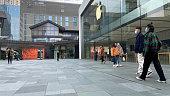 istock Apple Store on Chunxi Road in Chengdu,China during new type coronavirus pneumonia in Wuhan 1205899932