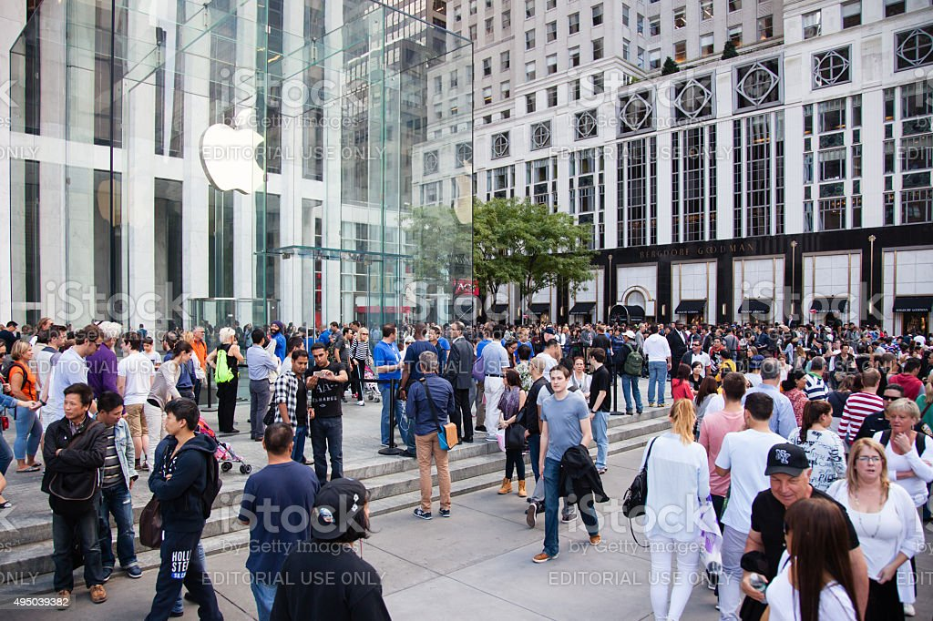 Apple store on Fifth Avenue New York stock photo