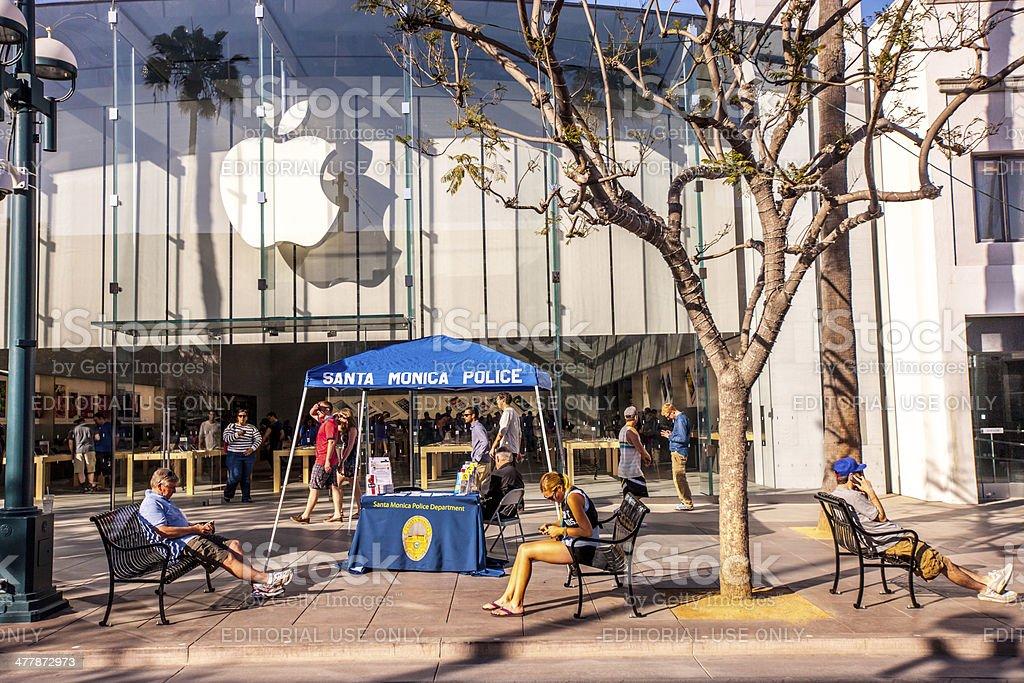 Apple Store on Third Street Promenade, Santa Monica stock photo