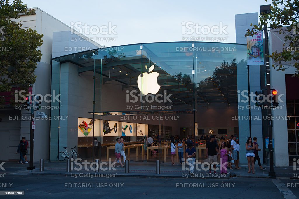 Apple Store, Palo Alto stock photo