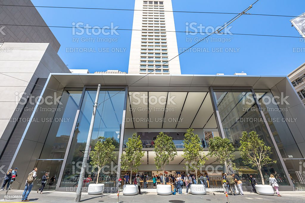 Apple Store Union Square stock photo