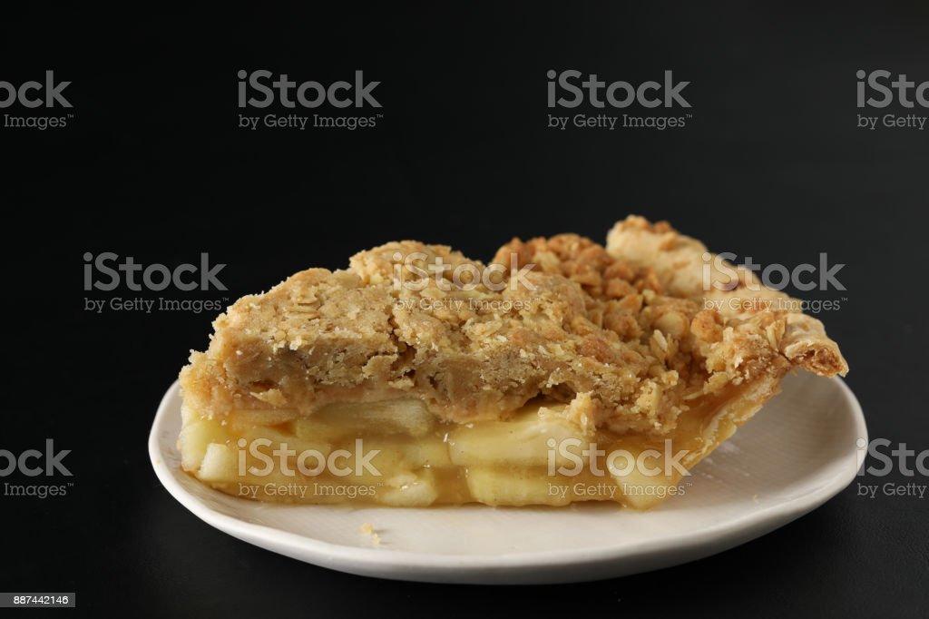 Apple Streusel Pie stock photo