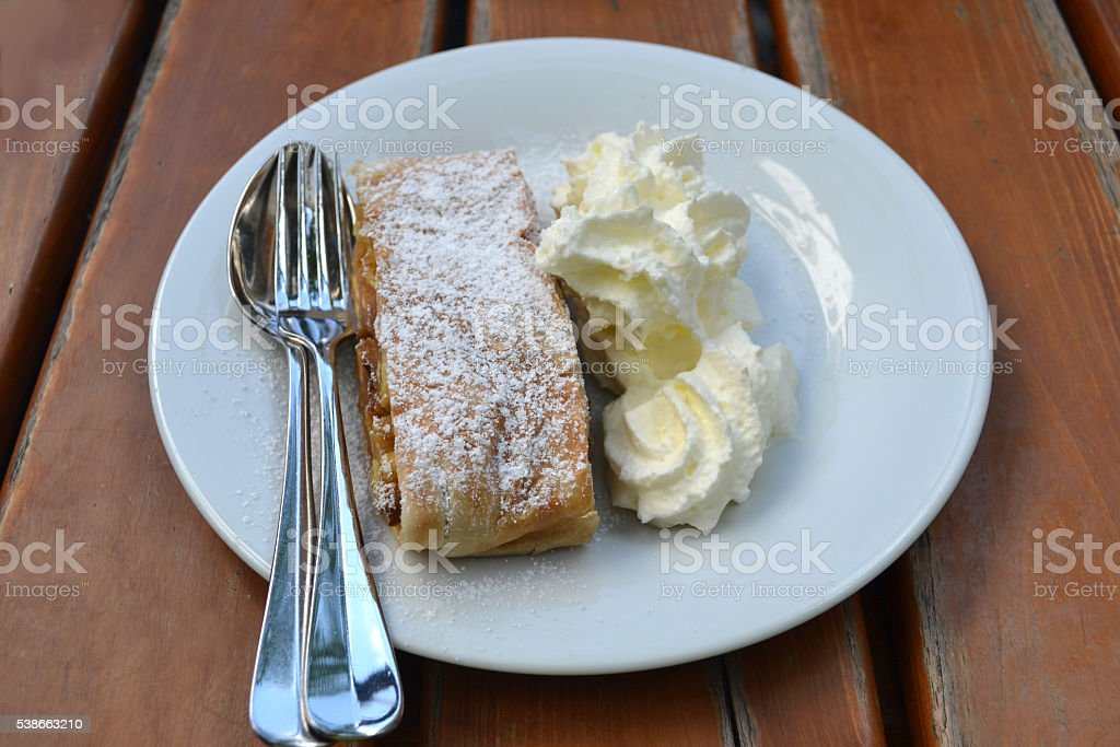 Apfelstrudel, applepie stock photo