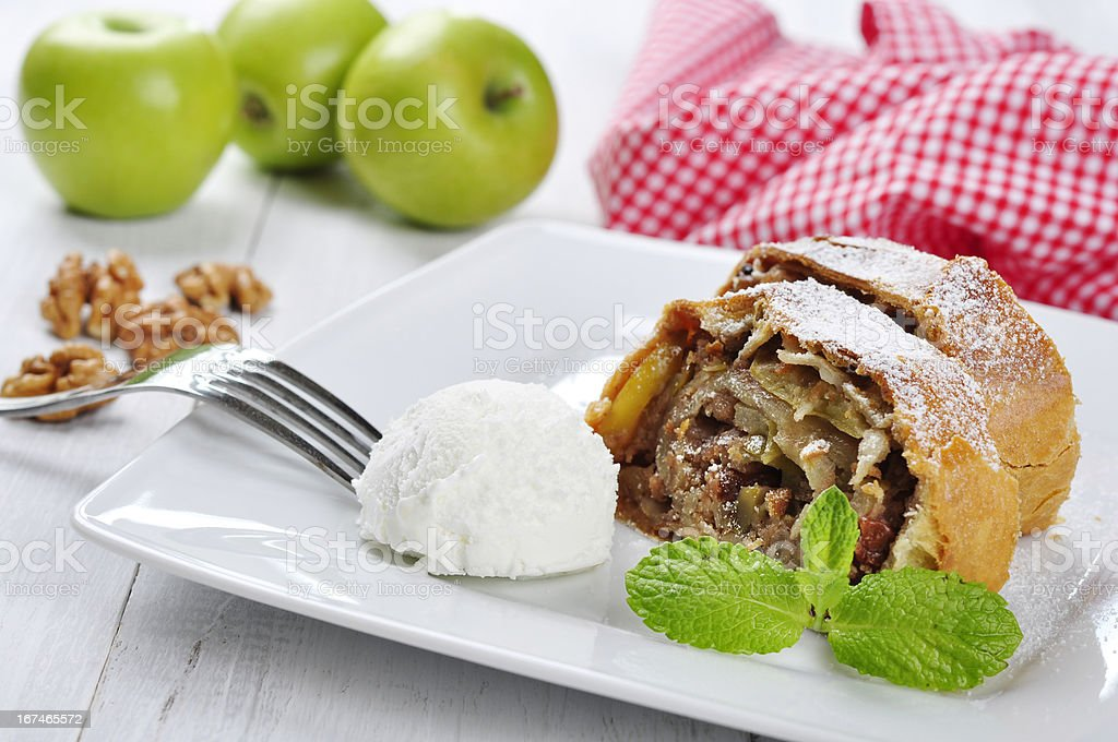 apple strudel royalty-free stock photo