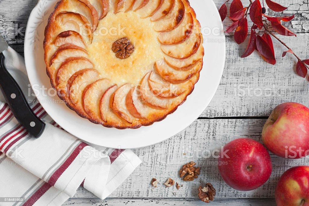 Apple tart stock photo