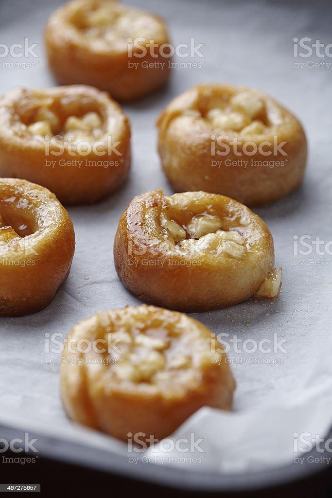 apple tartines stock photo