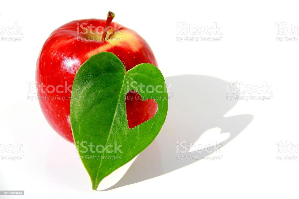 Apple to organic lovers. stock photo