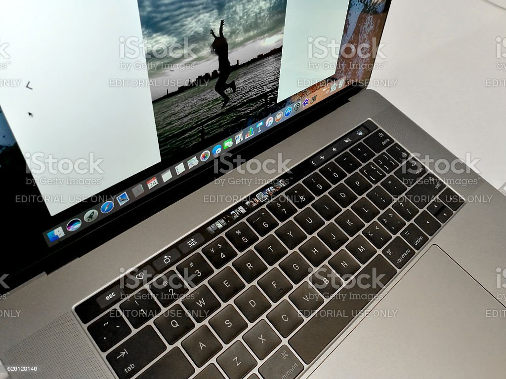 Apple Touch Bar stock photo