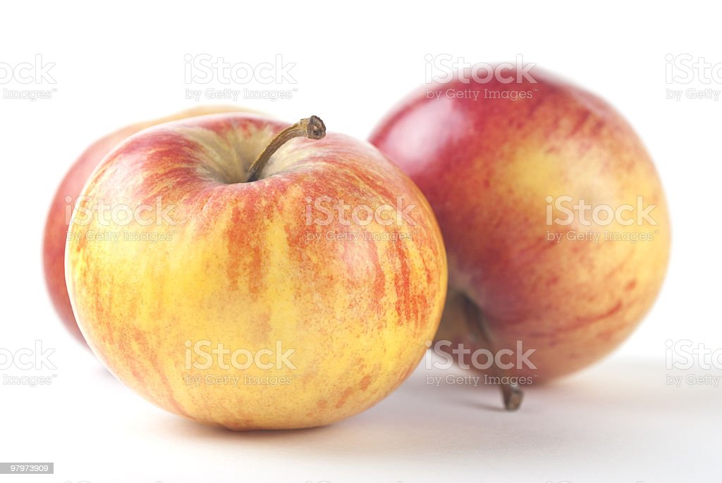 Apple Trio royalty-free stock photo
