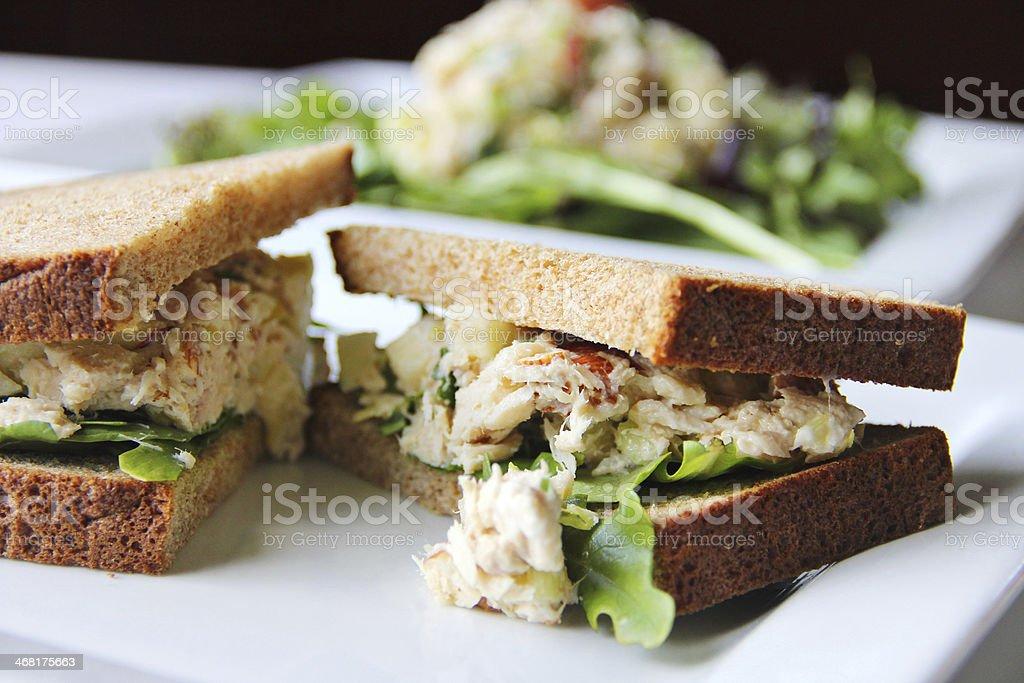 apple tuna sandwich stock photo