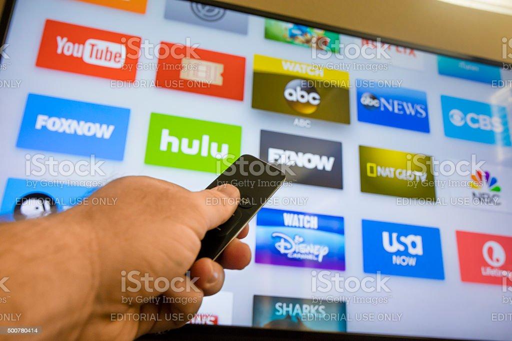 Apple TV - 4th Generation 2015 stock photo