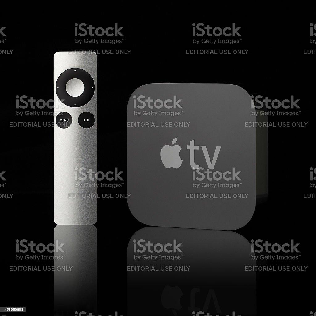 Apple TV royalty-free stock photo