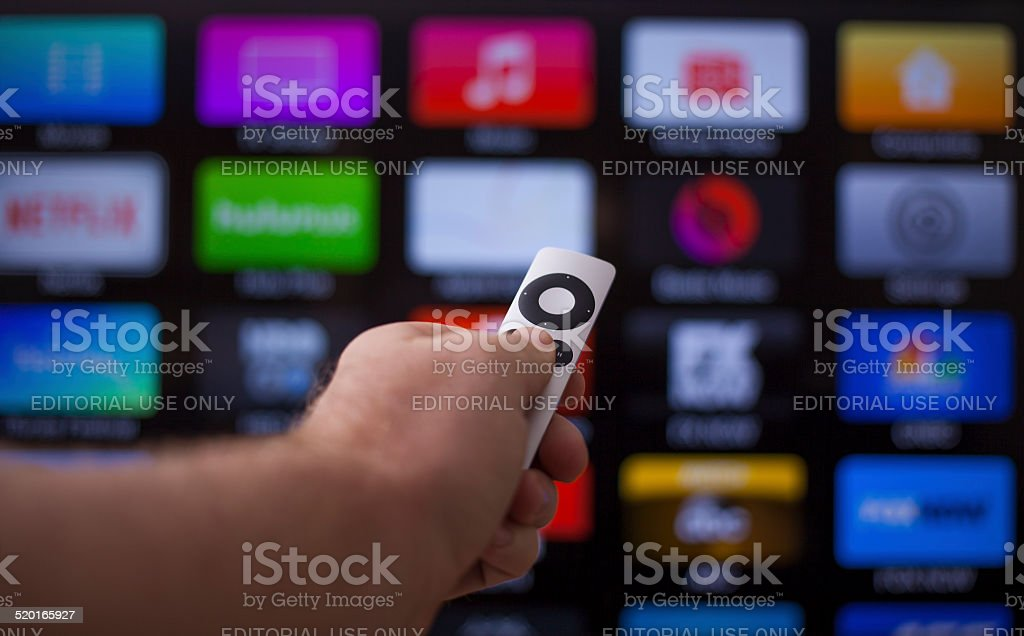 Apple TV stock photo