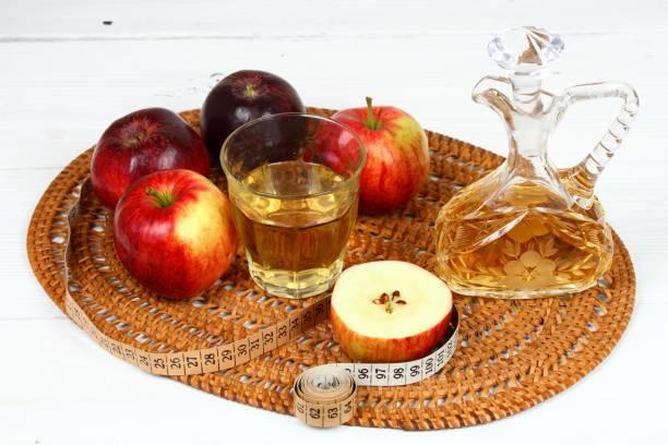 Apple vinegar good for diet stock photo