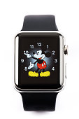 Apple Watch 42mm Stainless Steel with Black Sport Band