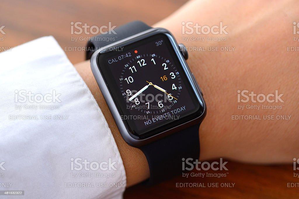 Apple Watch close up stock photo